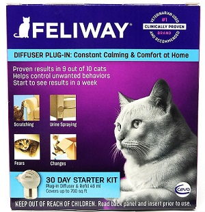 Feliway Cat Pheromone Starter Kit Plug in Diffuse and Refill
