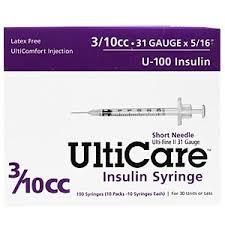 Ulticare Syringe U 100