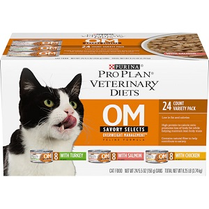 Purina Vet Diet Cat Om Savory Selects Variety Pack